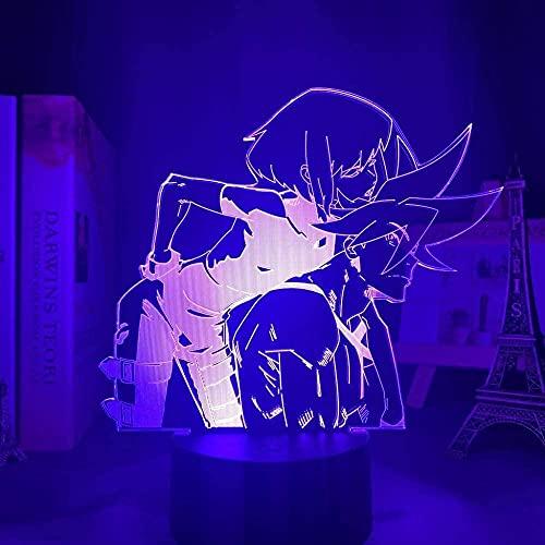 Anime lampa 3D raffinerad galo timjan ljus för barn barn sovrum inredning nattlampa födelsedagspresent Manga Aina Ardebit avtal