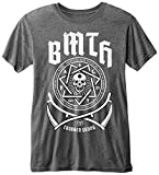 Rockoff Trade Bring Me The Horizon Crooked Young (Burn out) Camiseta, Gris (Charcoal), XL para Hombre