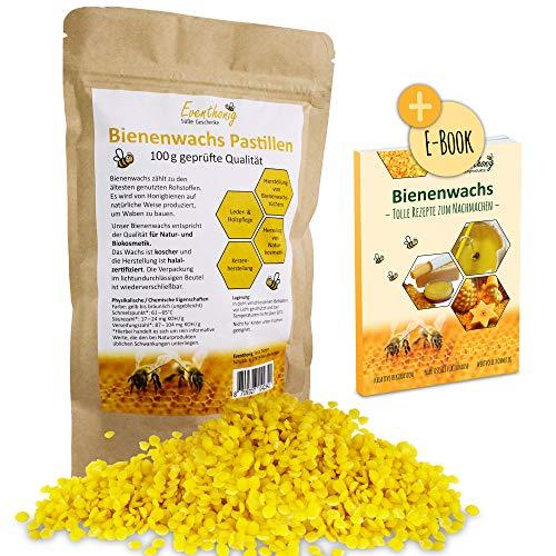 Pastillas de cera de abeja de apicultor 100 % naturales, fundido rápido, ideales para la fabricación de pomadas, jabones y velas, incluidas en bolsa opaca resellable para una gran durabilidad