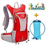 WLZP Trinkrucksack mit 2L BPA-freier Trinkblase, Ultraleicht Wasserdicht fahrradrucksack zum...