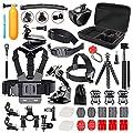 Followsun 52-in-1 Action Camera Accessories Kit for GoPro Hero/Session/Hero 6 5 4 3+ 3 2 1 Campark ACT74 AKASO EK7000 Crosstour APEMAN DBPOWER FITFORT ENEK Acko Lightdow Sony Sports DV and More