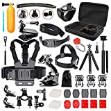 Followsun 52-In-1 <span class='highlight'>Action</span> <span class='highlight'>Camera</span> Accessories Kit for GoPro Hero (2019)/Fusion/Max/Hero 8 7 6 5 4 Hero Session 3  3 2 1 DJI OSMO Pocket AKASO Campark Crosstour VEMONT APEMAN SJcam Yi Rollei