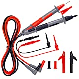 KAIWEETS Soft Silicone Electrician Test Leads Kit CAT III 1000V & CAT IV 600V with Alligator Clips and Needle Probe for Fluke/AstroAI/INNOVA Multimeter Electronic Clamp Meter