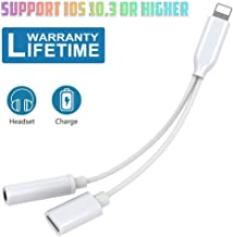 Headphone Adapter for iPhone 7/7Plus 8/8Plus for iPhone X/XS/XR Audio Earphone Jack to 3.5mm Headset Adaptor Audio Charge Cable for iPhone Dongle Extension Cord Cable AUX Female Support for All iOS
