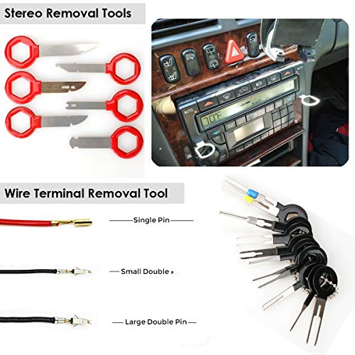 41Pcs Trim Removal Tool,Car Panel Door Audio Removal Tool Kit, Auto Clip Plier   s Fastener Remover Pry Tool Set with Storage Bag