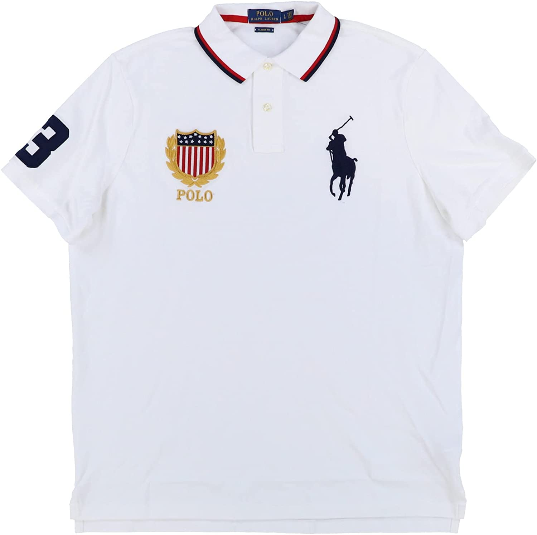 Polo Ralph Lauren Mens Classic Fit Big Pony Crest Polo Shirt