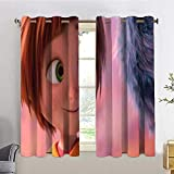 HoMdEfW Modern Window Curtain Wonder Park 10,W55 INCH x L63 INCH Indoor for Living Room