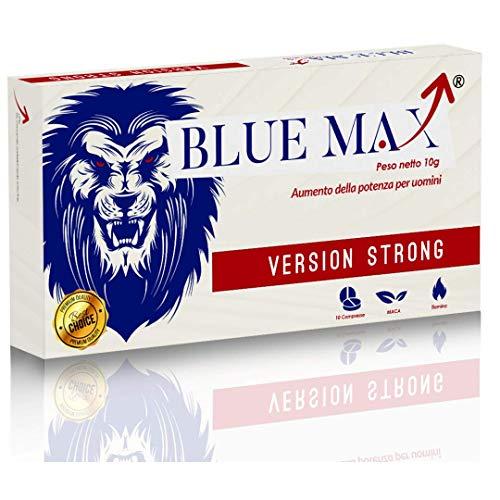 Blue Max - Strong Da 130 Milligrammi - Alterazione Dei Livelli Di Testosterone - Booster Naturale Anche Per Giovani Per Risultati Eccellenti - 10 Pillole
