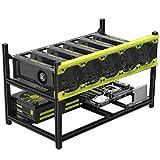 MogTech Mining Rig Frame 6 GPU Aluminum Stackable Frame Veddha for Ethereum Bitcoin Mining ETH BTC
