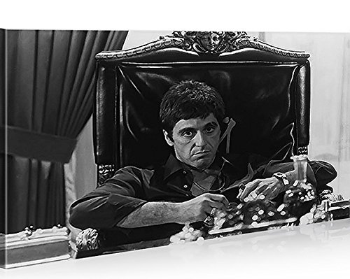 "islandburner Cuadro moderno con diseño de ""El Pacino Scarface - Impresión sobre lienzo - Cuadro para sillones, salón, cocina, muebles, oficina, casa - Fotografía formato XXL"