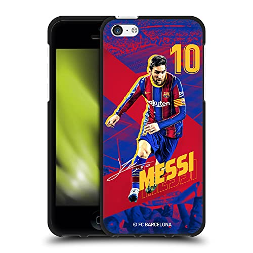 Head Case Designs Officially Licensed FC Barcelona Lionel Messi 2020/21 First Team Group 1 Black Soft Gel Case Compatible with Apple iPhone 5c