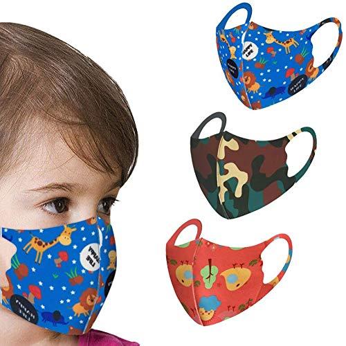 Qinlee. 3 Stück roter und Blauer Tarnmuster für Kinder mit hängendem Ohr und Seidenatem können gewaschen Werden