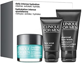 Clinique For Men Daily Intense Hydration 3PCs Set including Full Size Maximum Hydrator 72-Hour Auto-Replenishing Hydrator ...