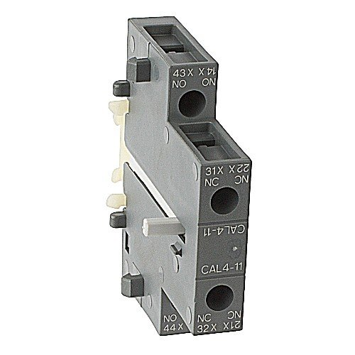 ABB CAL4-11, 1-N/O & 1-N/C Aux Contact Block, SIDE Mount, fits AF09-AF96 Contactors