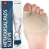 Fabric Metatarsal Pads - Ball of Foot Cushions Support Sleeves Burning Sensations Forefoot Blisters Metatarsalgia Pain Relief Foot Health Care Tight Fitting Feet - Gel Pads for Men Women