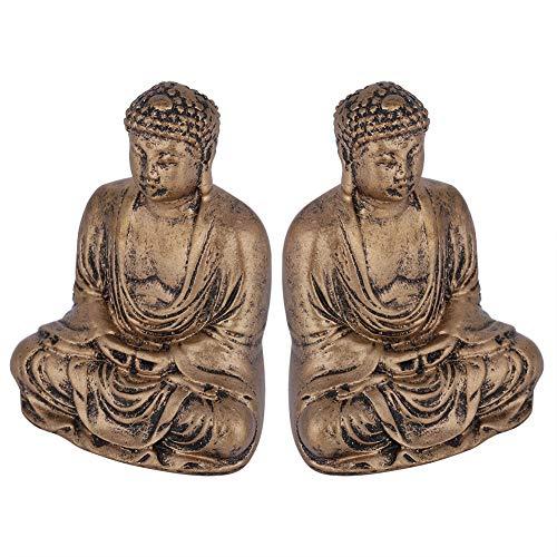 cigemay Buddha Statue Buddha Statue, Resin Buddha Statue, Meditating Buddha Happy Buddha for Good Luck Yoga Zen Decor Home Office