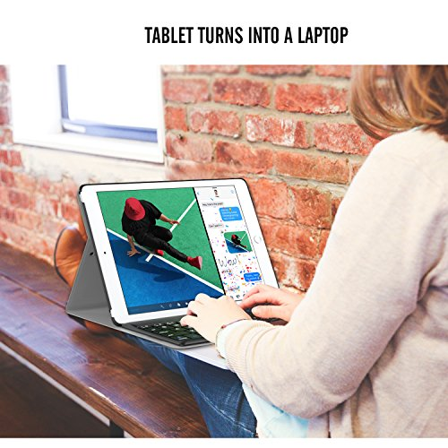 ATiCNEWiPadAir3(第三世代)10.52019/iPadPro10.52017用Bluetoothキーボード型フォリオケース対応モデル:A2152/A2123/A2153/A2154/A1701/A1709/A1852BLACK