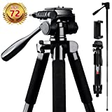 Camera Tripod, FOSITAN 180cm Compact Travel Tripod with Quick Release Plate and Phone