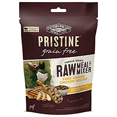 Castor & Pollux Pristine Freeze Dried Raw Meal or Mixer Grain Free Free-Range Chicken Recipe Dog Food Topper, 5.5-oz Bag