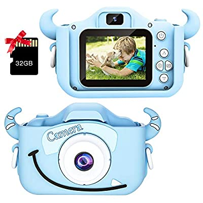 Camera Toy Kids Camera for Girls Boys Gifts HD 2.0 Inches Screen Kids Video Camera Anti-Drop Children Selfie Toy Camera Mini Cartoon Child Camcorder for 3-14-Year-Old with Soft Silicone Case by HuaF