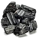 KALIFANO Black Tourmaline Bundle with Calming and Purification Energy - AAA+ Grade Brazilian Turmalina Negra Schorl Reiki Healing Crystal Used for Protection and Security (Information Card Included)