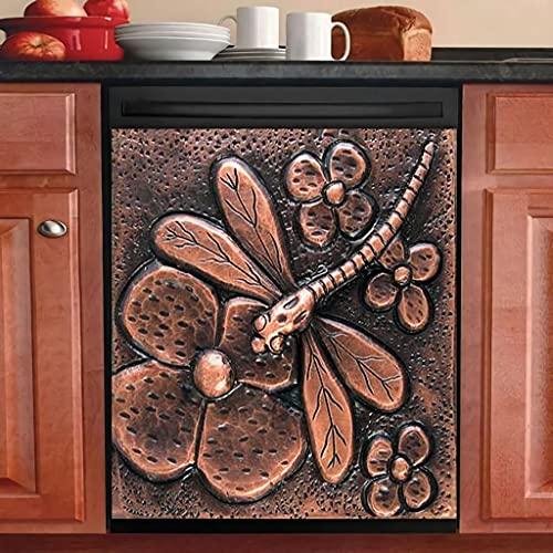 Libélula magnética cubierta de lavaplatos decoración de cocina lavavajillas magnético gallo país refrigerador puerta pegatina