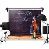 Kate 10x10ft/3x3m Graduation Background Grad Congrats Backdrop Blackboard Pencils Chalk Paintings School Kids Photo Studio Props