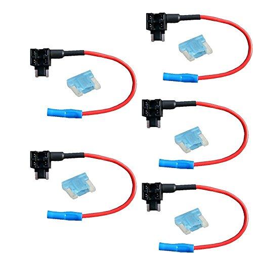 Mintice 5 X véhicule de voiture 12V 24V ajouter un circuit piggy fusible du robinet de retour porte-lame style profile bas fusible 15A