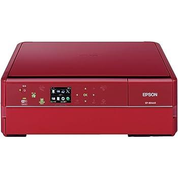 EPSON Colorio インクジェット複合機 EP-804AR 有線・無線LAN標準対応 スマートフォンプリント対応 先読みガイド&カンタンLEDナビ搭載 6色染料インク レッドモデル