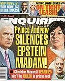 National Enquirer Magazine September 21 2020 Prince Andrew Ghislaine Maxwell Jeffrey Epstein Tyler Perry Gwen Stefani Blake Shelton