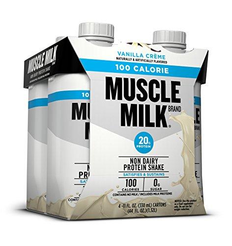 Muscle Milk 100 Calorie Protein Shake, Vanilla Crème, 20g Protein, 11 FL OZ, 4 count