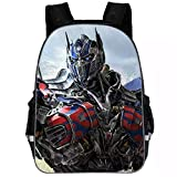 XMTIHE Boys Girls Transformers Backpack-Students Back to School Book Bag Kids Travel Backpack Bumblebee,Optimus Prime