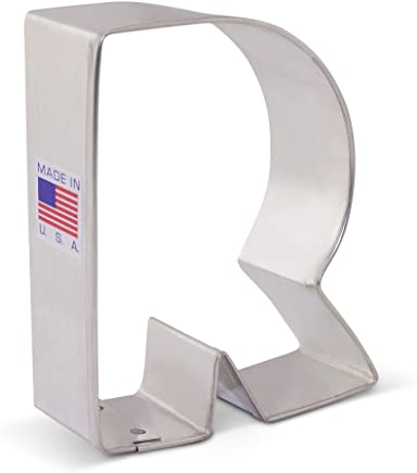 Ann Clark Letter R Cookie Cutter - 3.25 Inches - Tin Plated Steel