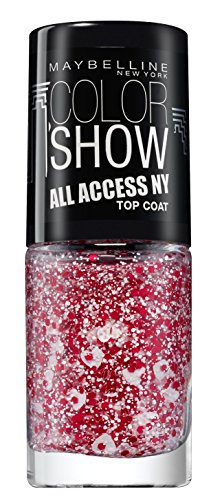 Maybelline New York make-up nagellak Color Show Nail Care glitter rood/wit.