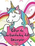 Libro de actividades del unicornio: Un libro de actividades para niños y páginas para colorear para niños de 4 a 8 años | Aprendiendo el alfabeto, la ... la actividad de punto a punto y el laberinto