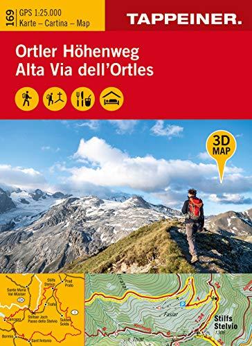 3D-Wanderkarte Ortler-Höhenweg 1:25.000. Ediz. tedesca, italiana e inglese