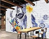 LHDLily 3D Papel pintado Wallpaper Fresco Mural Papel Tapiz Personalizado De Pared De Ladrillo...