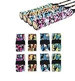 Jicyor Squash Grips Cinta,12pcs Antideslizante Multicolor Sobregripspara Absorbente Mangos Raquetas Tennis para Raqueta Tenis Bádminton Squash Caña Pescar