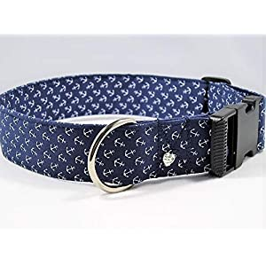"""Halsband""""kleine Anker"""" 4 cm breit bis 55 cm Halsumfang"""