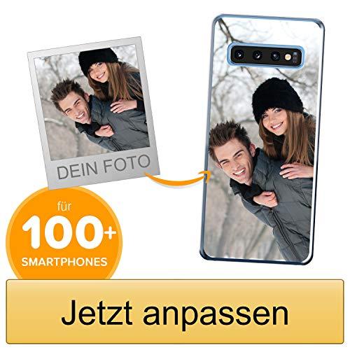 Coverpersonalizzate.it Handyhülle für Samsung Galaxy S10 mit Foto-, Bildern- oder Text selbst gestalten- Die Handyhülle ist aus weichem transparentem TPU-Silikon-Gel Material