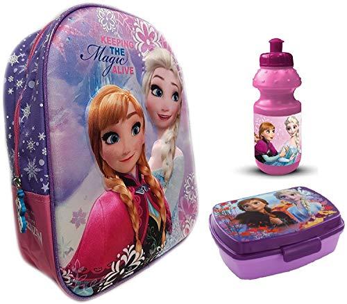 Frozen 3D Rucksack Die Eiskönigin + EXTRA Zugabe (lila, Nr.A1204)