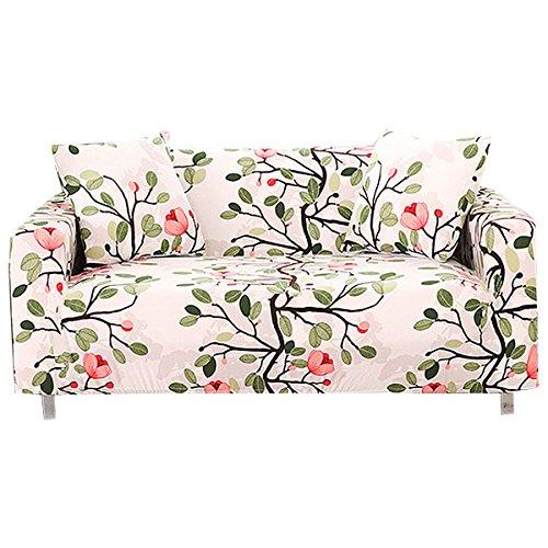 FORCHEER 1/2/3/4 Sitzer Sofabezug Sofaüberwurf Sesselhussen Elastisch Hautfreundlich 90-290cm (2-Sitzer Sofabezug, 040)