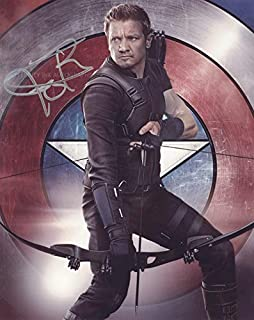 JEREMY RENNER as Clint Barton/Hawkeye - The Avengers GENUINE AUTOGRAPH