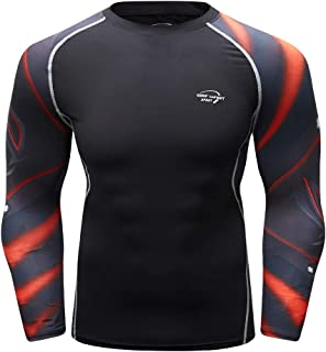 HeatGear Armour Compression Shirt,Londony 🍁 Men's Workout Compression Shirt Gym Fitness Baselayer Compression Top