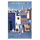 WTHKL Marokko Tunesien Algerien Airline Classic Canvas