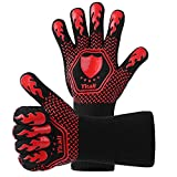 SENXINGYAN BBQ Grilling Gloves, Oven Gloves 1472°F Extreme Heat Resistant Grill Gloves, 14""