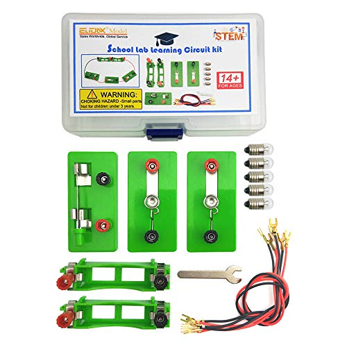 EUDAX Physics Science Lab Learning Circuit kit,Electricity Experiment Set,Building Circuits for Kids Junior Senior High School Students (Basic kit)
