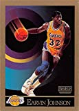 Magic Johnson basketball card (Los Angeles Lakers) 1990 Skybox #138