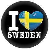 FanShirts4u Button/Badge/Pin - I Love SCHWEDEN Fahne Flagge SWEDEN SVERIGE (I Love Sweden)