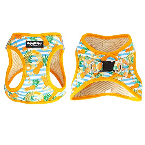 Downtown Pet Supply No Pull, Step in Adjustable Dog Harness with Padded Vest, Easy to Put on Small, Medium and Large Dogs (Pineapple, L)